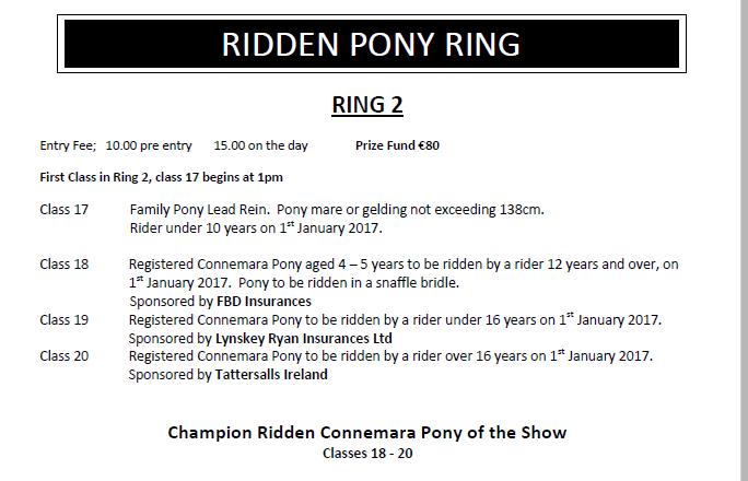 Ridden Pony Ring