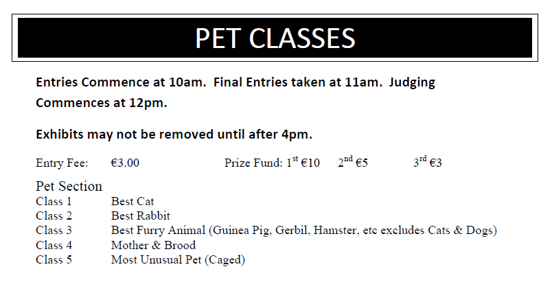 Pet Classes